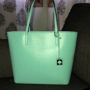Kate Spade ♠️ Haven street maxi tote in soft aqua